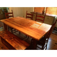 Reclaimed Wood Table with PDD Chairs