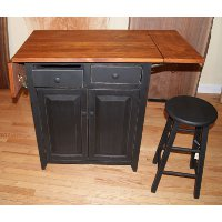 Pennsylvania Dutch Design - Kitchen island with folding leaf