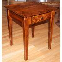 Shaker End Table with Wormy Maple Top